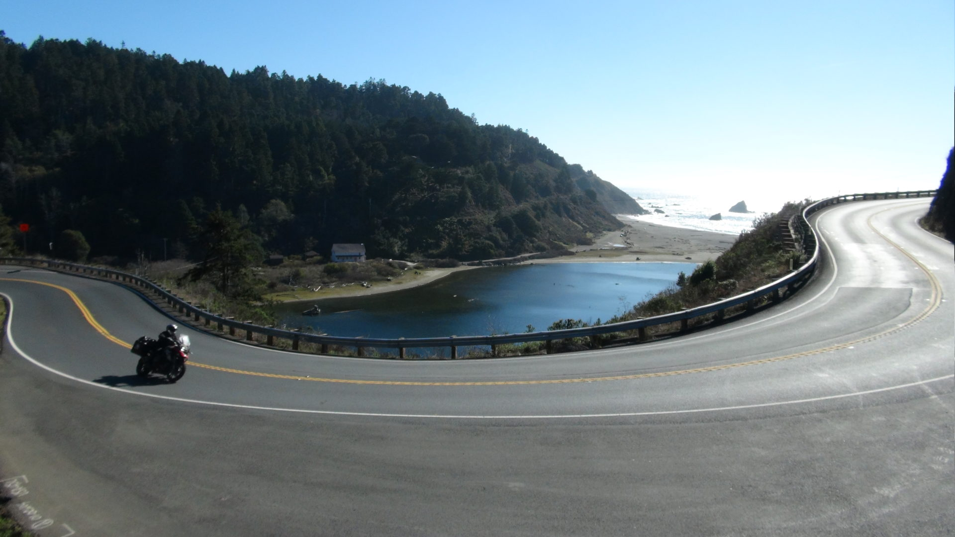 Pacific coast highway motorbike California