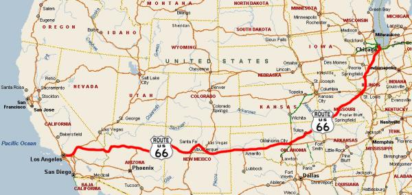 Historic Route 66 California Map.An American Icon Riding Historic Route 66 Motoquest