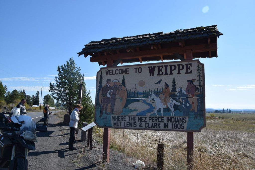 Lewis & Clark Adventure - Weippe Sign