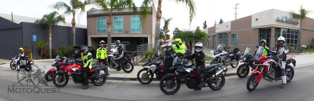 Heading out from the MotoQuest HQ in Long Beach, California