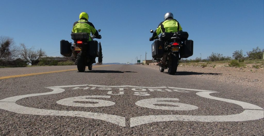 MotoQuest Riders on Route 66