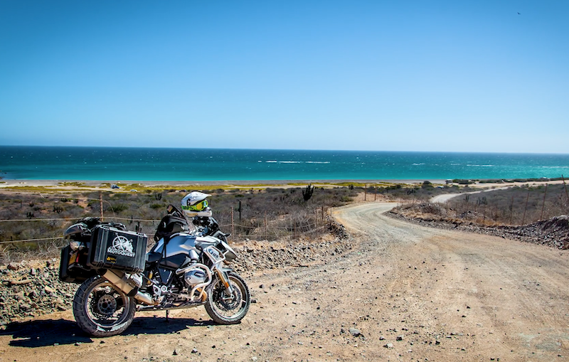 Bike on the Baja Coastline